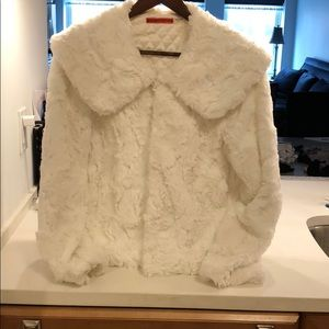Alice and Olivia white rabbit jacket